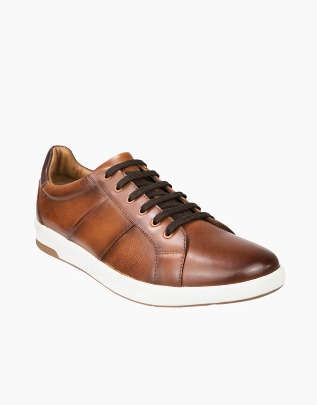Florsheim Cognac 6 Hole Lace To Toe Sneaker
