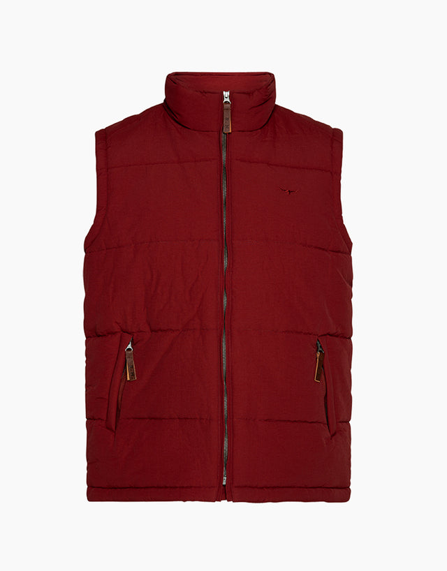 R.M. Williams Patterson Creek Oxblood Vest
