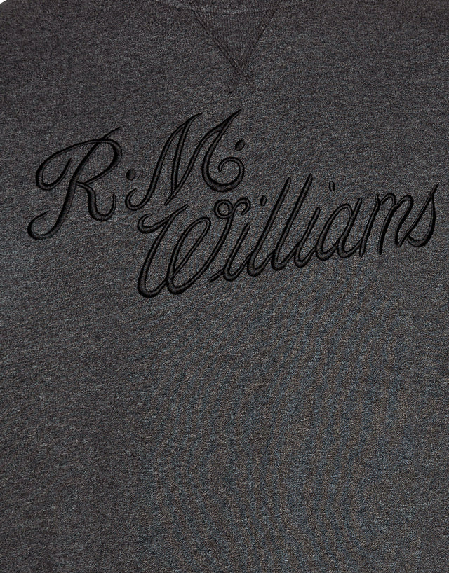 R.M. Williams Script Black Crew Neck
