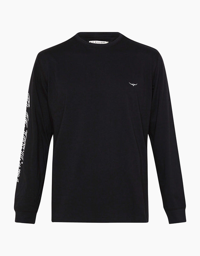 R.M. Williams Signature Black Long Sleeve T-Shirt