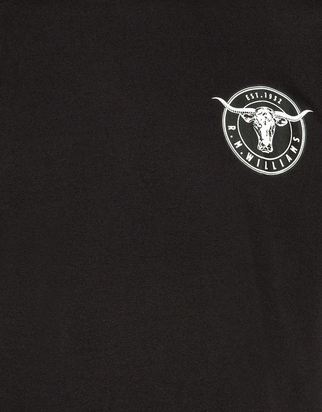 R.M. Williams Longhorn Black and White Medallion TShirt