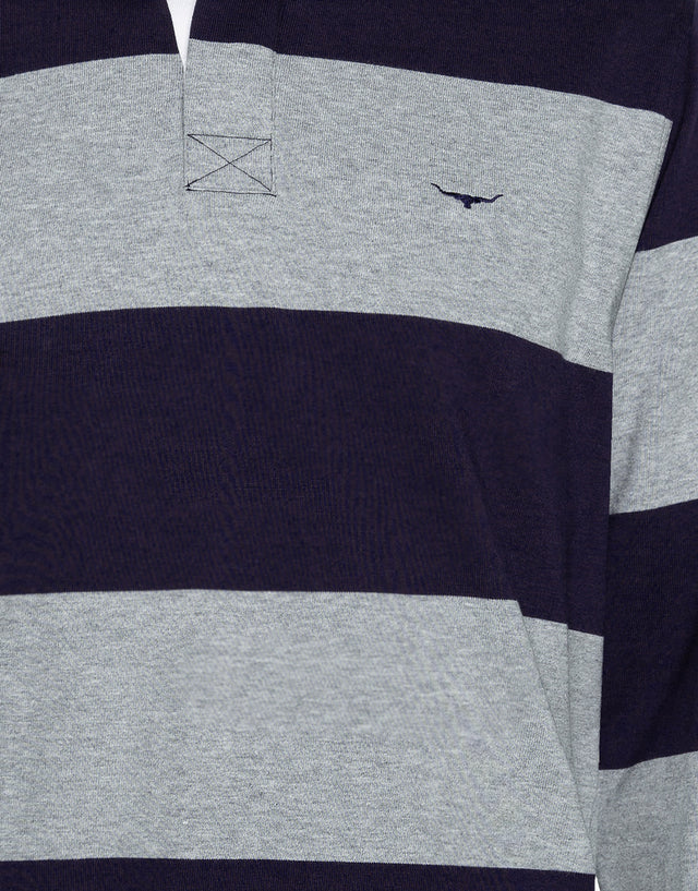 R.M. Williams Tweedale Navy Rugby Jersey
