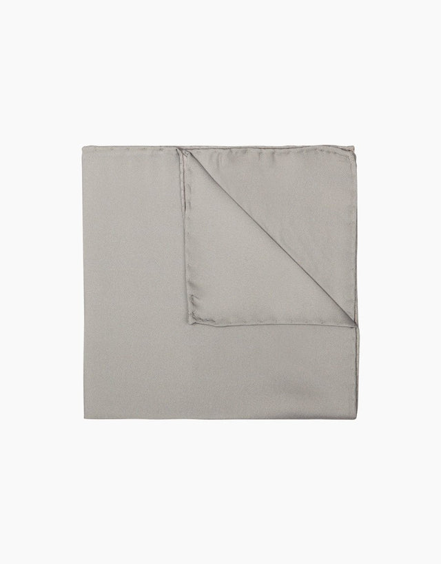 Silver Silk Pocket Square