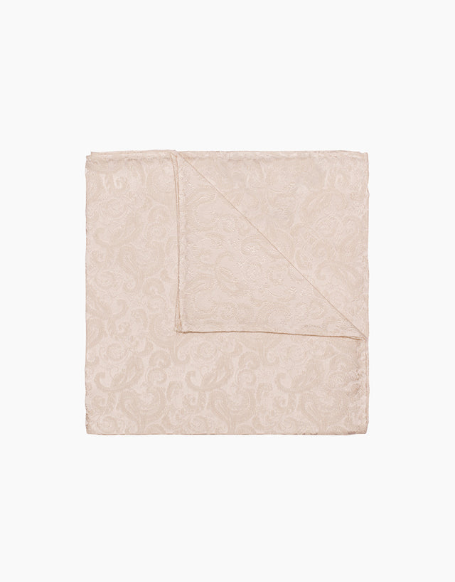 Ivory floral silk pocket square