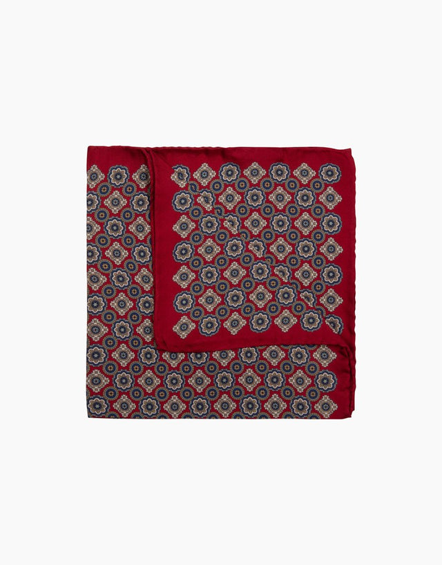 Magneta Floral Dot Pocket Square