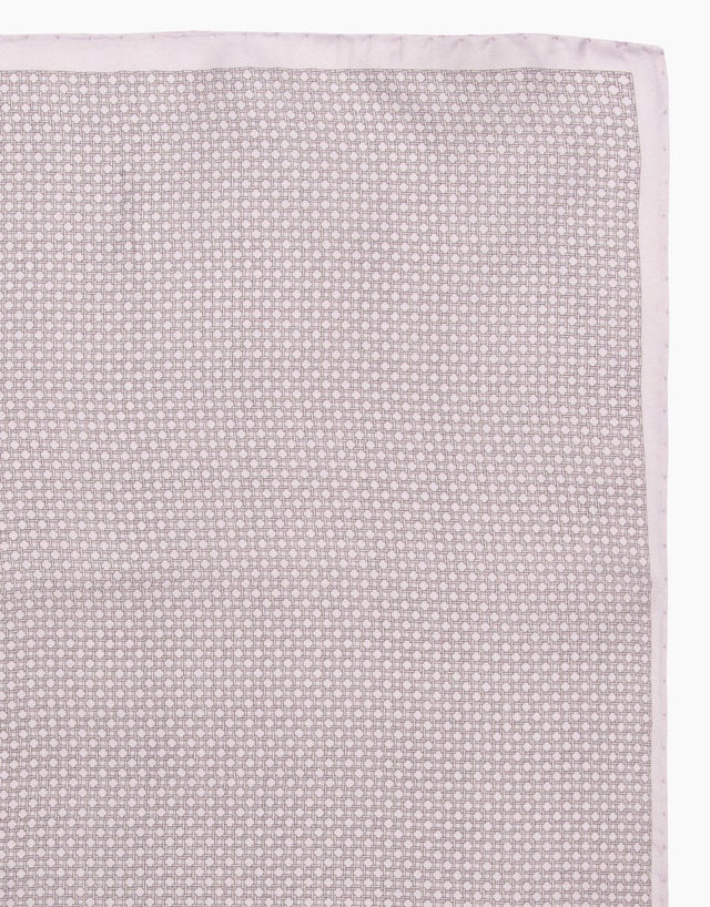 Lilac Geometric Silk Pocket Square