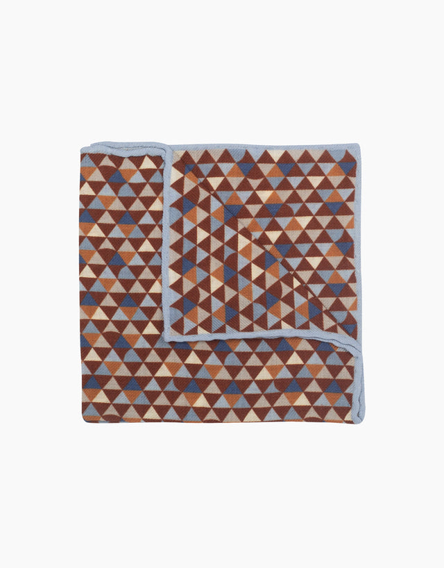 Multi-coloured mosaic pocket square