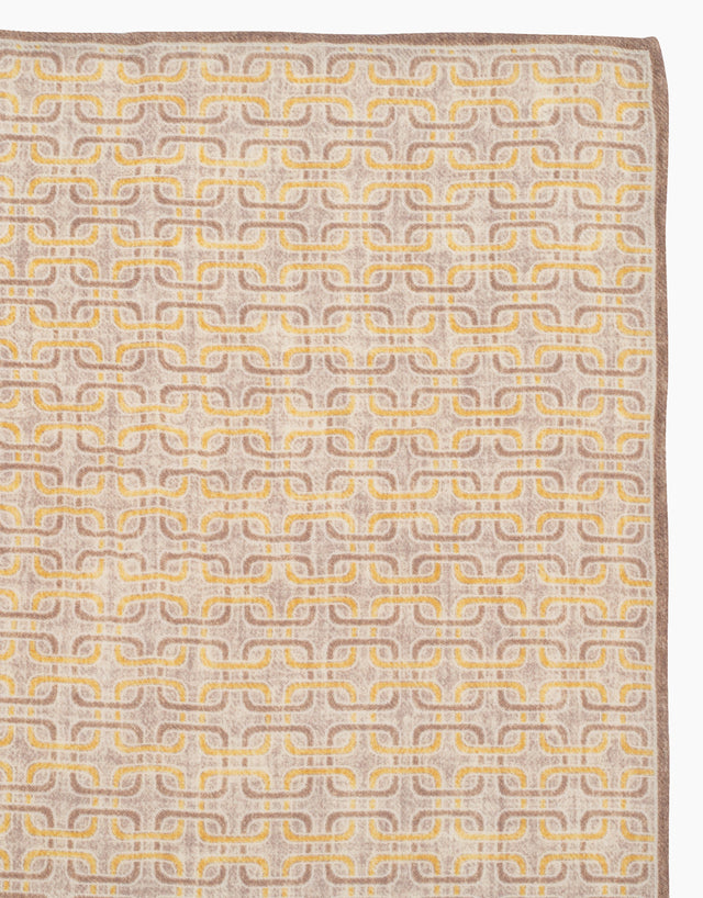 Yellow geometric pocket square
