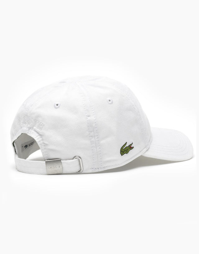 Lacoste White Basic Side Croc Cap