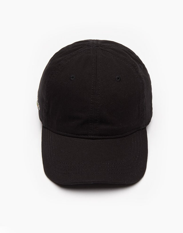 Lacoste Black Basic Side Croc Cap