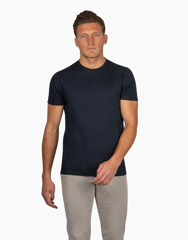 Sorrento Navy Cotton TShirt