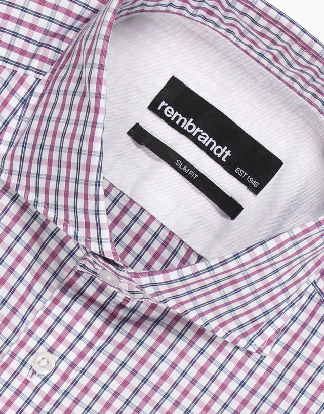 Pierce purple check shirt