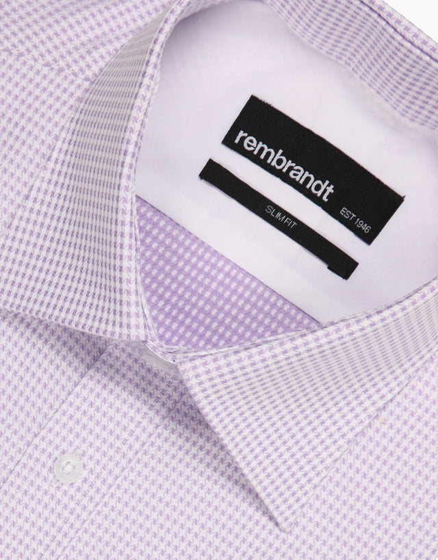 London lilac & white business shirt