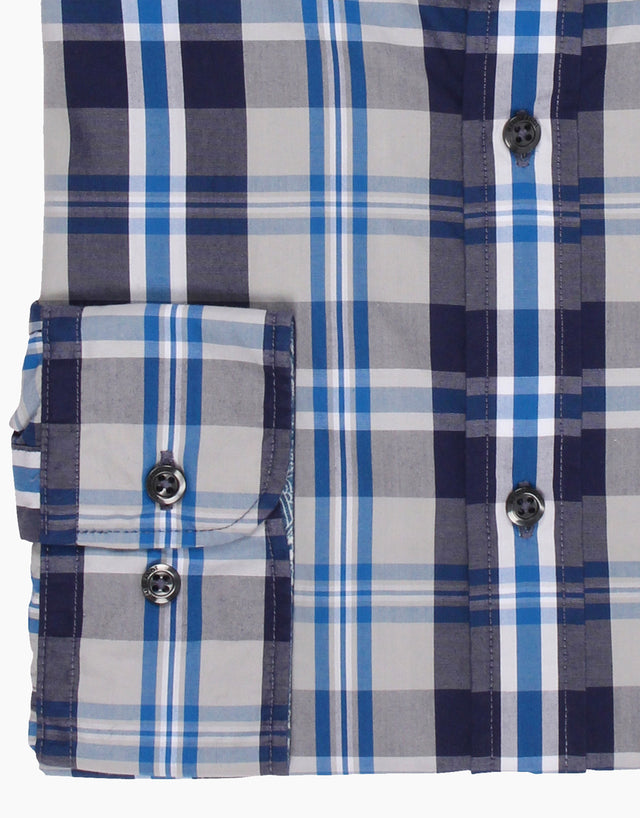 Pierce Navy Check Casual Shirt