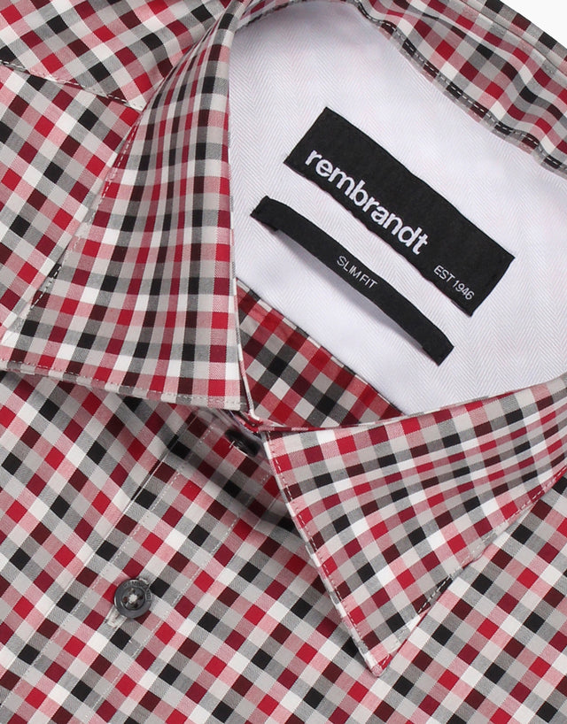 Santiago red check shirt