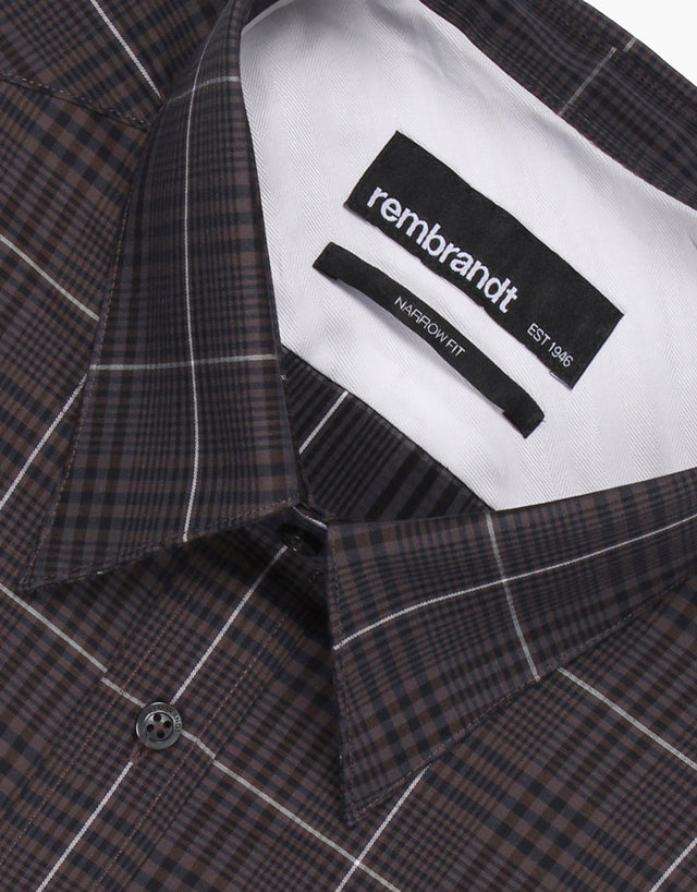 Bradley charcoal check shirt