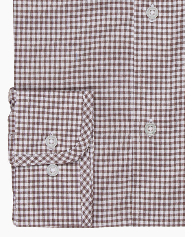 Brooklyn brown gingham shirt