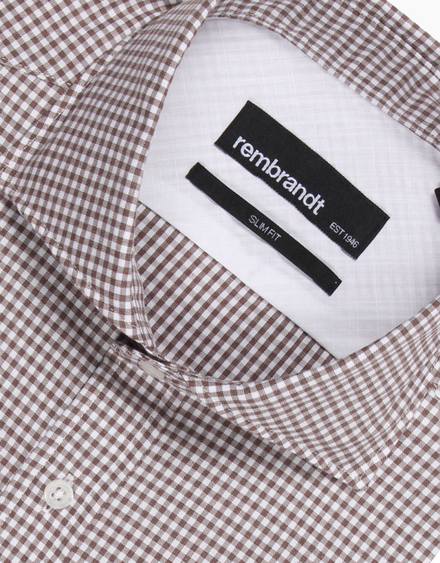 Pierce Brown Gingham Washed Casual Shirt