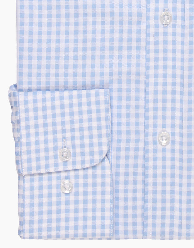 Sinatra Blue Gingham Business Shirt