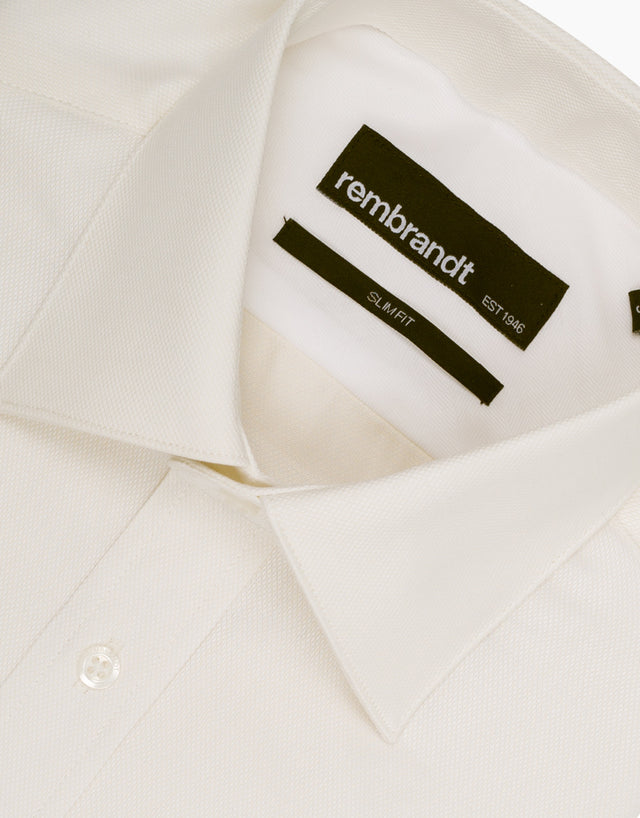 Santiago Ivory Textured Tailored Shirt