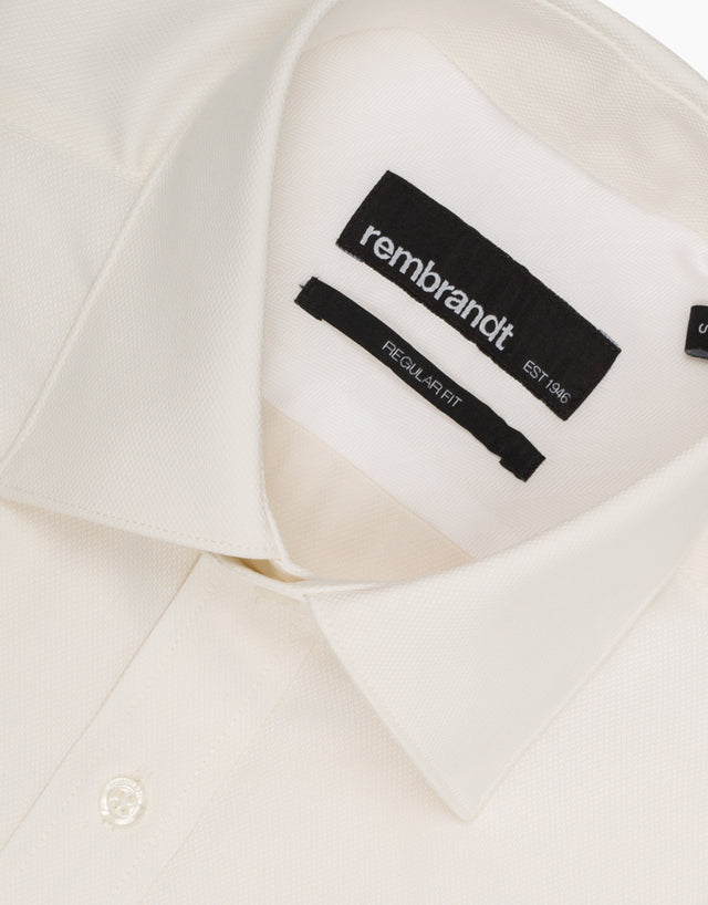 Sinatra Ivory Textured Business Shirt