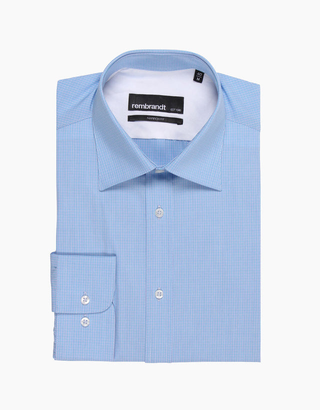 Bradley Blue Micro-check Tailored Shirt