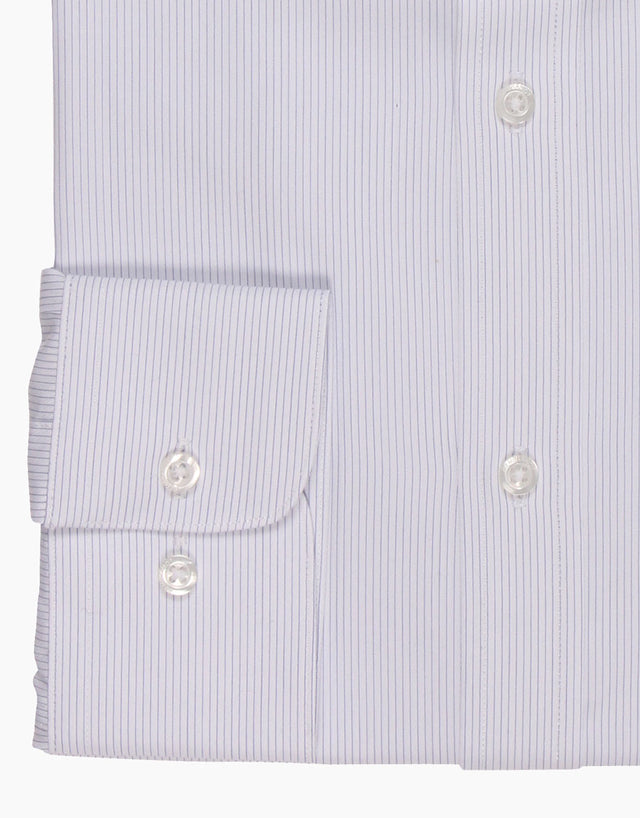 Brosnan White Striped Business Shirt