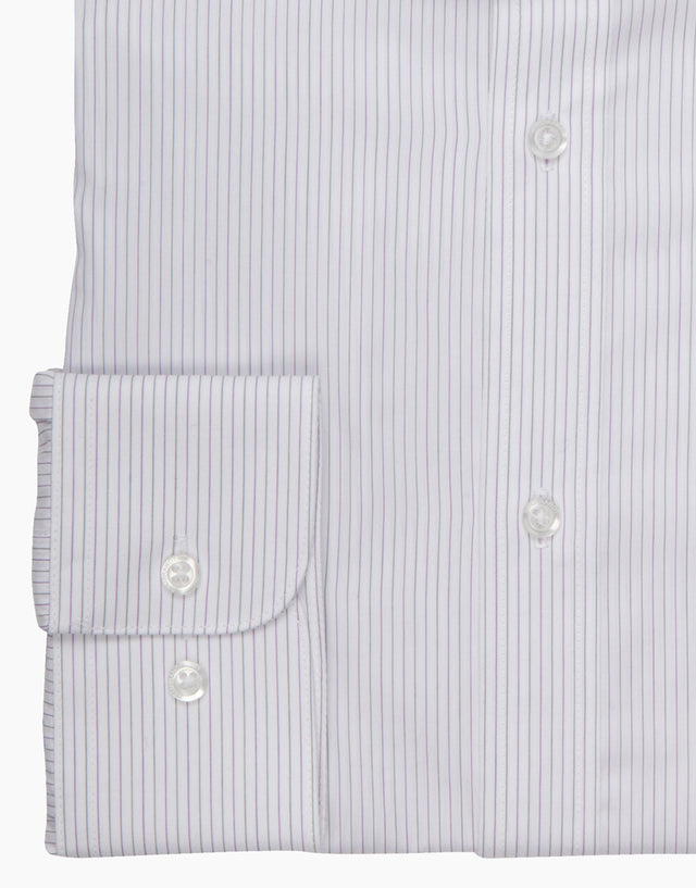 Brosnan white stripe shirt