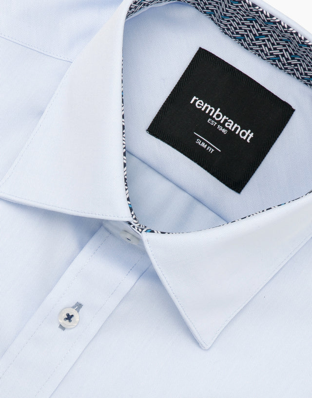 Barbican Light Blue Smart Casual Shirt