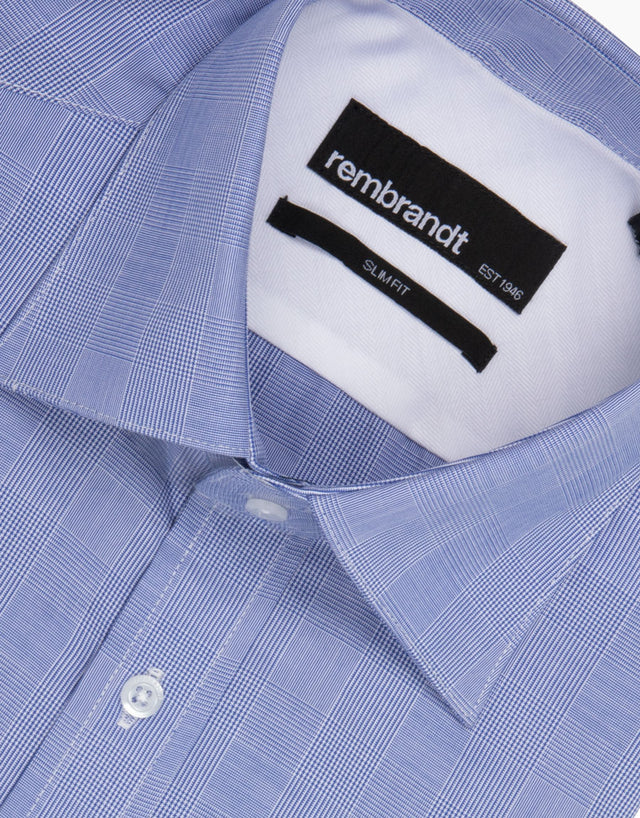 London Blue Check Tailored Shirt