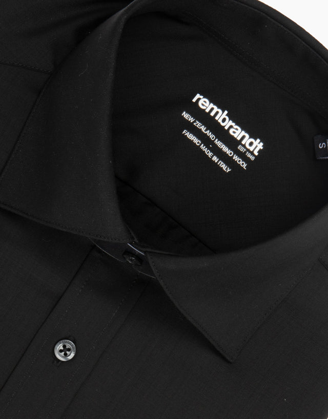 McCahon Black Wool Shirt