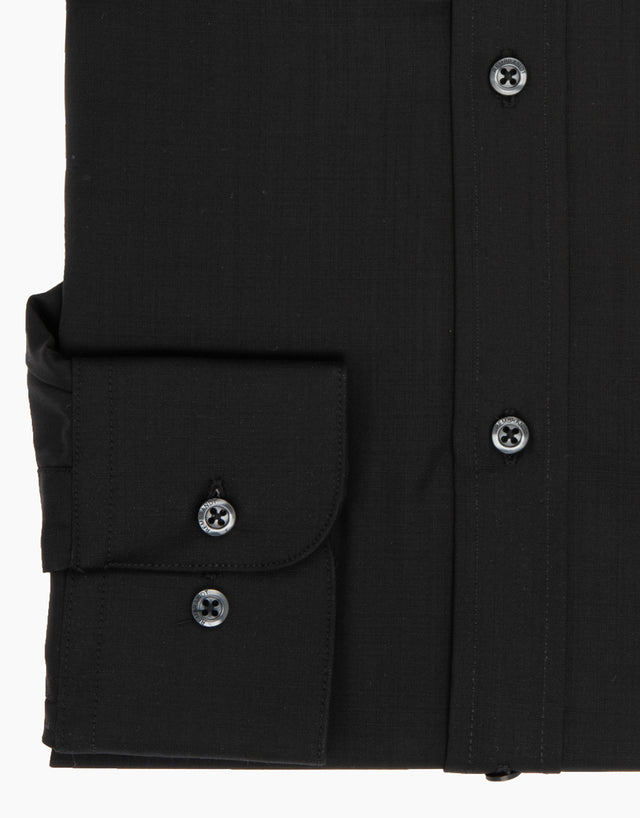 McCahon Black Wool Tailored Shirt