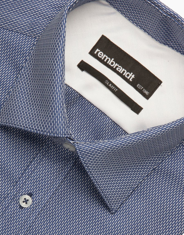 London Blue Micro-design Tailored Shirt