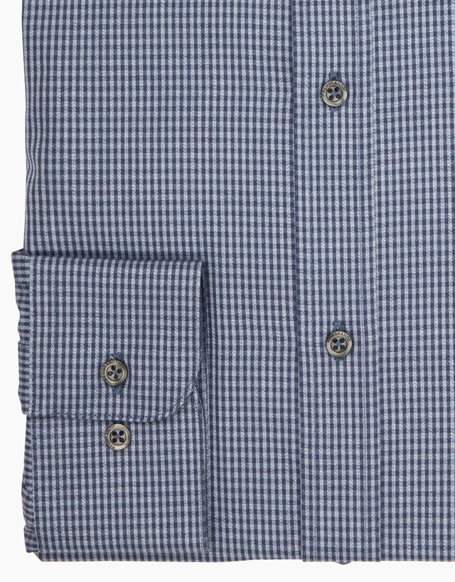 Brosnan Blue Check Tailored Shirt