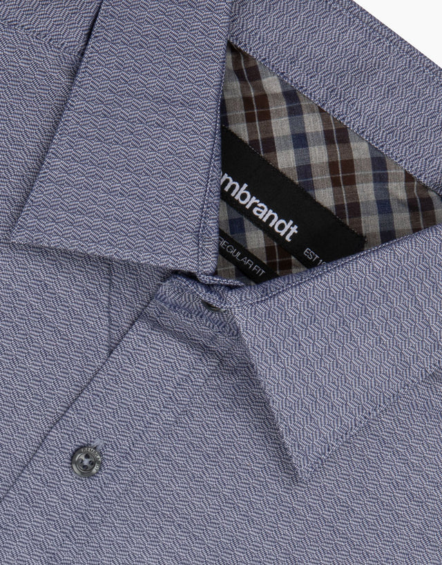 Papamoa Navy Check Casual Shirt