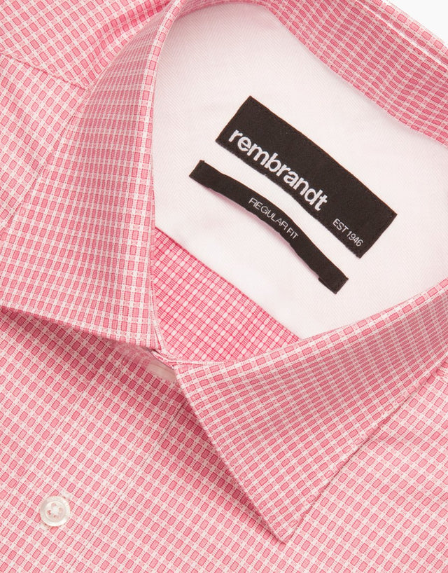 Sinatra Pink Geometric Tailored Shirt