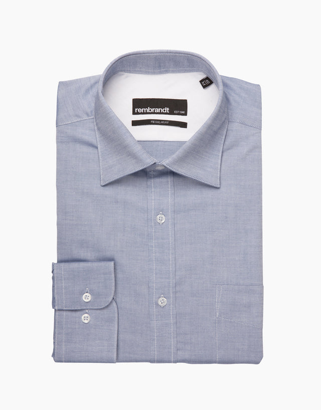 Sinatra Blue Tailored Shirt