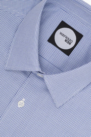 Brooklyn Blue Micro-Design Tailored Shirt