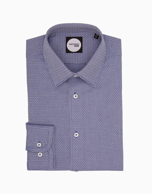 Brooklyn Navy Geometric Tailored Shirt
