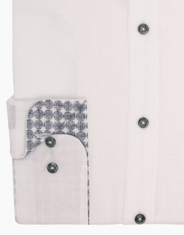 Papamoa White Casual Shirt