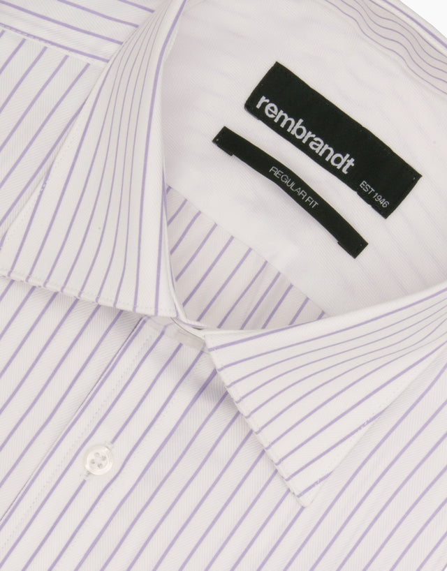 Sinatra Lilac Stripe Tailored Shirt