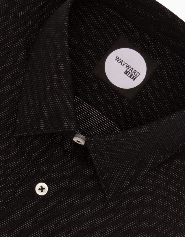 Brooklyn Black Pin Dot Tailored Shirt