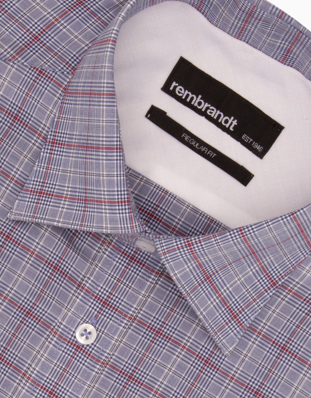 Sinatra Blue Check Tailored Shirt