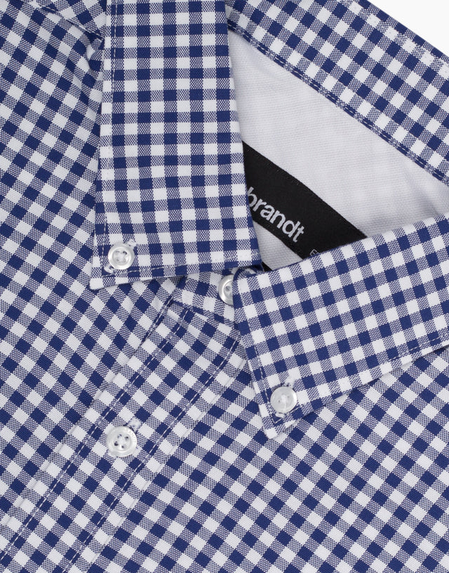 Awaroa Navy Check Casual Shirt