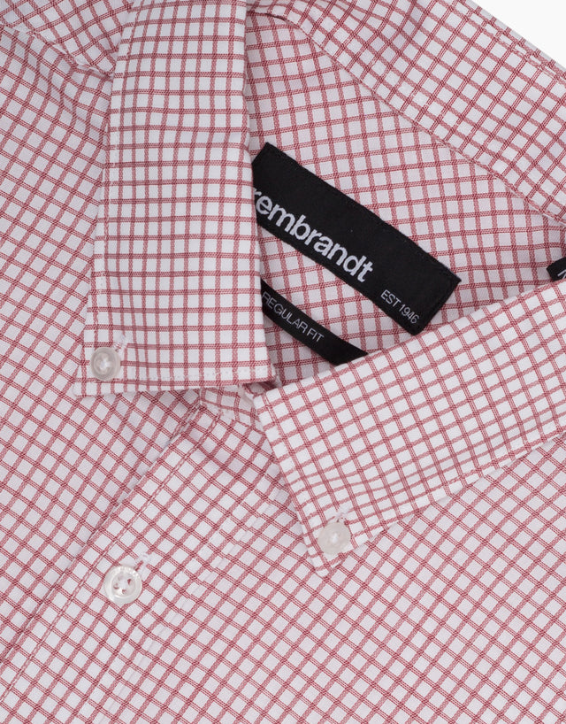 Awaroa Red & White Check Casual Shirt