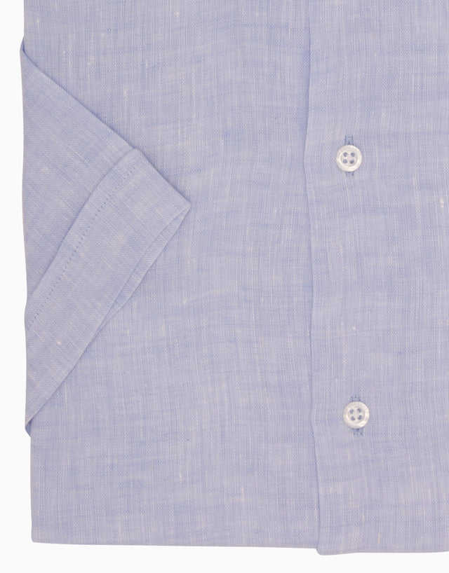 Hahei Light Blue Casual Short Sleeve Shirt
