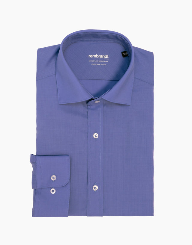 McCahon Blue Wool Shirt