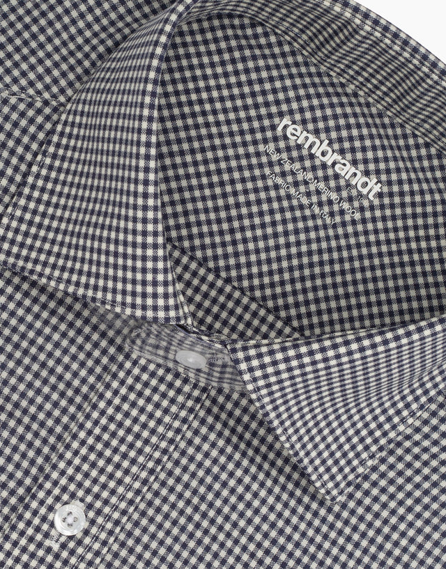 McCahon Black & White Check Wool Shirt
