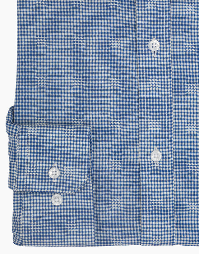 McCahon Blue Check Wool Shirt