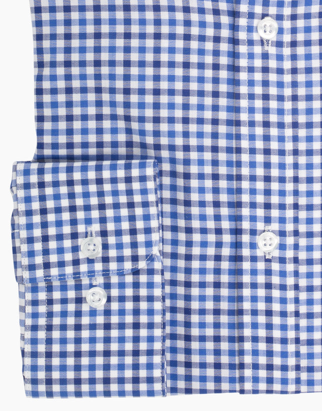 Sinatra Blue Check Business Shirt